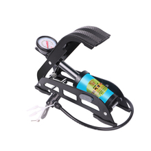 Portable High-Pressure Steel No-Slip Pump MTB Bike Foot Air Pump For Bicycle Car Tire Black And Blue