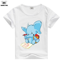 DMDM PIG 2017 Cotton T Shirts Baby Girl Clothes Christmas Kids Teens Summer Short Sleeve T-Shirts For Boys Girls Year Age 8 9 10(China)