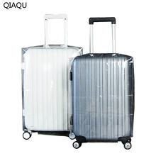 QIAQU High Quality PVC Matte Transparent Waterproof Suitcase Protective Cover Travel Luggage Trolley Thicker Wear Dust Cover