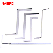 5PCS NAIERDI Locksmith Tools Stainless Steel Double Row Tension Wrench Tool Removal Hooks Lock Extractor Set Furniture Hardware(China)