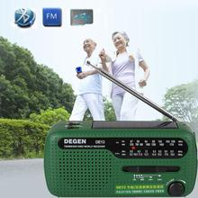Emergency Hand Crank Dynamo Solar FM/MW/SW Radio Portable mini Radio Outdoor FM radio Flashlight Mobile Phone Charger