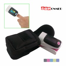 With Black Carring Bag / Original Rubber Cover Fingertip Pulse Oximeter Blood Oxygen SpO2 Monitor Alarm Setting & BP sound