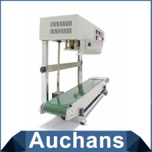 110V Continuous Plastic Bag Film Heat Band Sealing Machine FR-900 Steel Wheel Printing ,Sealing Width:6-12MM