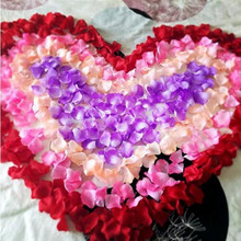 Top Quality 2000 pcs/lots Silk Rose Flower Petals Leaves Wedding Decorations Party Festival Wedding Rose Petals FQ5