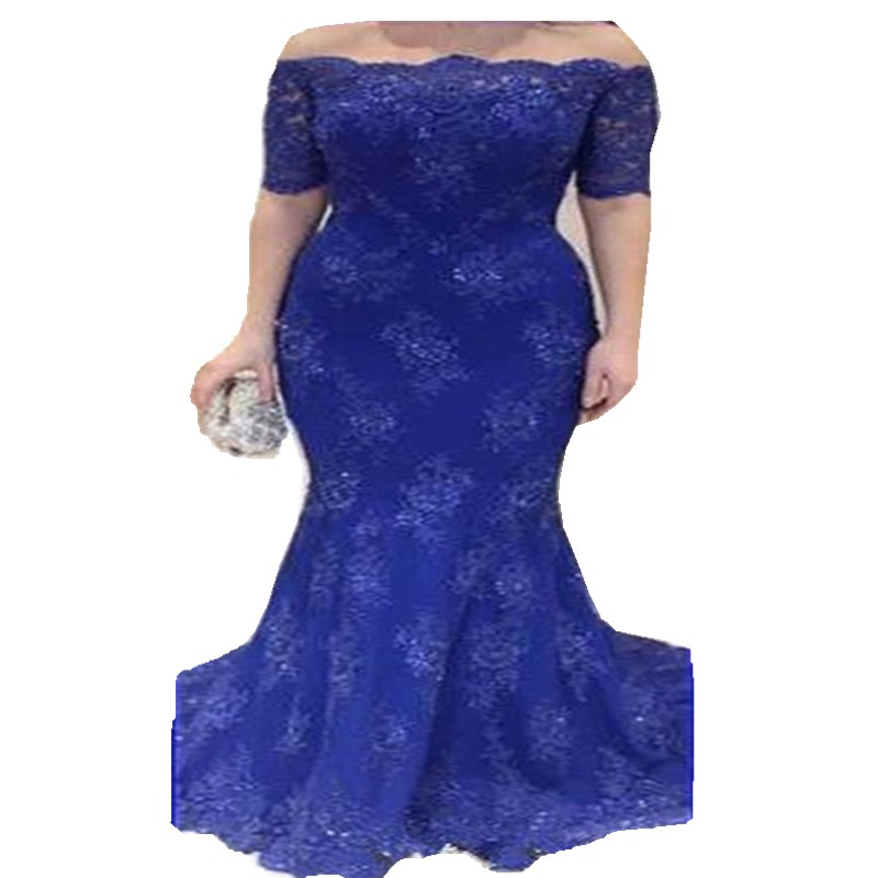 Royal-Blue-Long-Lace-Evening-Dress-Mermaid-Gown-2015-Elegant-Sexy-Half-Sleeve-Beaded-Backless-Motherww_