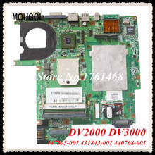 MOUGOL 447805-001 431843-001 440768-001 mainboard fit For HP DV2000 DV3000 Laptop motherboard 100% Tested Free Shipping(China)