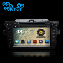 Android 6.0.1 Auto Car GPS for Toyota Corolla 2006-2011 DVD Player WIFI 3G Bluetooth TV 8 Inch Free GPS Card and Map 2017 New(China)