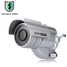Waterproof Dummy Camera CCTV Fake Camera Solar Energy CCTV Sticker Surveillance With Flashing Red LED Light