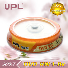 5 discs Less Than 0.3% Defect Rate Grade A 4.7 GB Blank Printed DVD+RW Disc with Package Wrap
