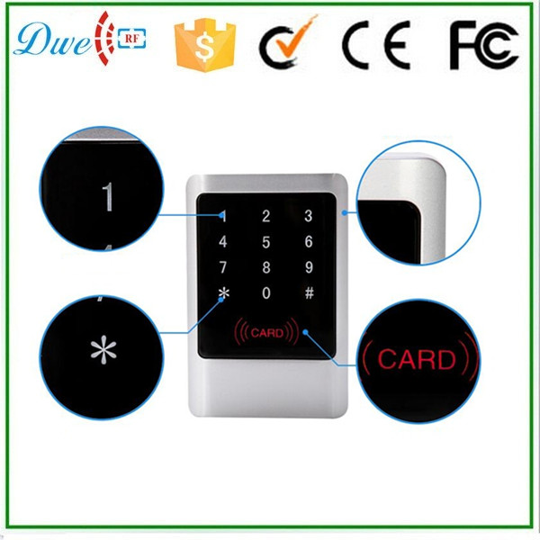 125khz em id wg26 wg 34 touch type keypad rfid reader with backlight  for access control system <br>