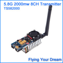 FPV 5.8Ghz 5.8G 2000mW 2W 8 Channel Wireless Audio Video Transmitter AV Sender for FPV System  TS582000