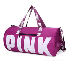 2018 fashion girl stripe duffle bag pink beach shoulder bag large capacity  secret travel brand Overnight weekender vs bag 98f7bb139a5b