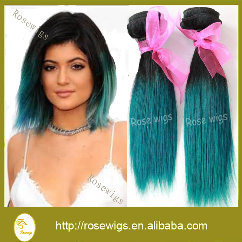 7A Grade Ombre Peruvian Virgin Hair Straight Two Tone 1b/blue Ombre Hair Extension 3pcs/lot Remy Human Hair Weave<br><br>Aliexpress