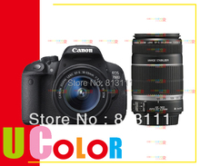 New Canon EOS Rebel T5i 700D DSLR Camera 18-55mm IS STM + EF-S 55-250mm f/4-5.6 IS STM Twin Lens Kit
