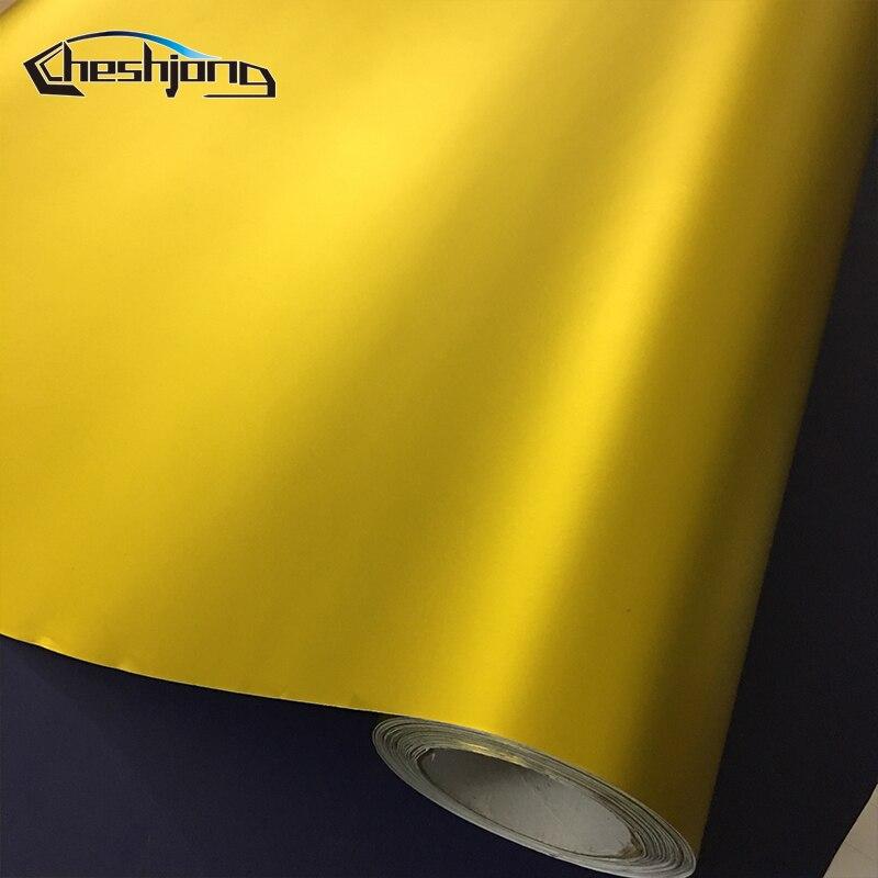 Matte-chrome-Golden-Car-Wrap-Vinyl-Sheet-2