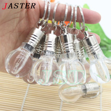 JASTER Fashion 5 colors Hot Sale 4GB 8GB 16GB 32GB Lamp Lighted Bulb USB 2.0 Memory Stick Flash Pen Drive free shipping