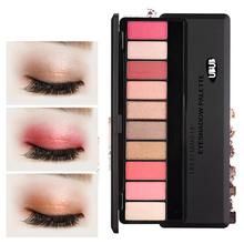 UBUB 1 PC Glitter Shimmer pearl eyeshadow Palette 10 color eye shadow smoke color makeup Eye Shadow Palette A5(China)