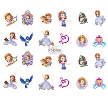Sofia the First Little Princess Nail Sticker Room Home Notebook DIY Mobile Stickers Girl Toys Kids Mirror Label Cartoon Decal