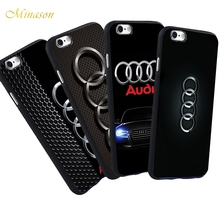 Minason For iPhone X 8 5 S 5S SE 6 6S Plus 7 Audi Case Luxury Car Audi A4 A6 Logo Printed Phone Black Silicone Soft Case(China)