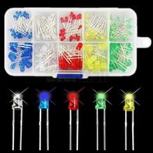 200Pcs 3mm 5mm  LED Diode Light Assorted Kit DIY LEDs Set White Yellow Red Green Blue Free Shiiping Electronic Diy Kit