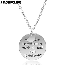 "XIAOJINGLING Family Pendants Necklaces Gift""The Love Between Father/Mother/Grandmother And Son/Daugher/Granddaughter Is Forever""(China)"