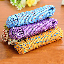 New Design 10m Colorful Multifunction Nylon Washing Clothes Line Rope Clothesline String 10m Hangers & Racks(China)