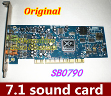 Original  5PCS   Sound Blaster SB0790 X-Fi Xtreme Audio 7.1 Channel PCI Sound Card for Creative Desktop