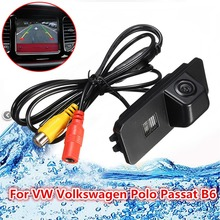 Car Reverse Camera For VW Volkswagen Passat Polo B6 Backup Rearview Parking Reversing Cam Auto Vehicle Rear View(China)