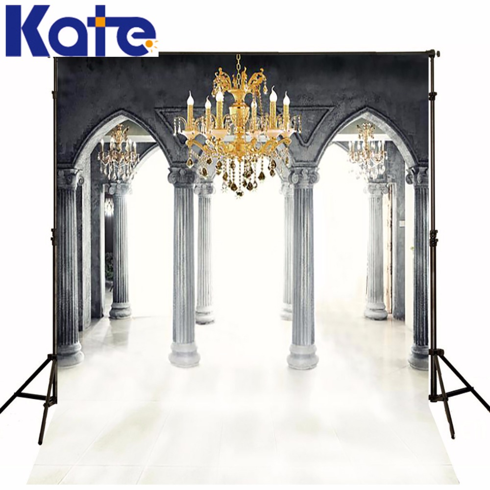 Photography Backdrops 6.5*5Ft(200*150Cm) Photo Background Photography Backdrop Holy Pillars Chandelier Photography Background<br>