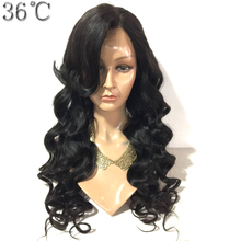 PAFF Body Wave Full Lace Wig Brazlian Remy Hair Natural Color Side Bangs Human Hair Wig for Black Women With Baby Hair(China)