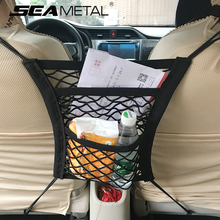 Car Seat Back Net Organizer Mesh Auto Storage In Car For Automobile Accessories String Bag Stowing Tidying Pocket Car-styling(China)