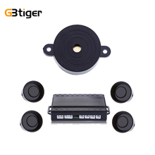 Car Parking Sensor Auto Reverse Rear Assistance Backup Park Radar Buzzer Car Alarm Kit Monitor System 6 Colors With 4 Sensors(China)