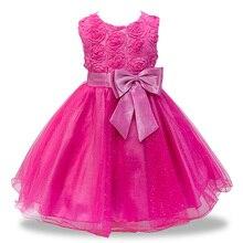2018 Summer dresses girl Children kids baby girl clothes girl clothing Big bow Princess dress girls vestidos infantis