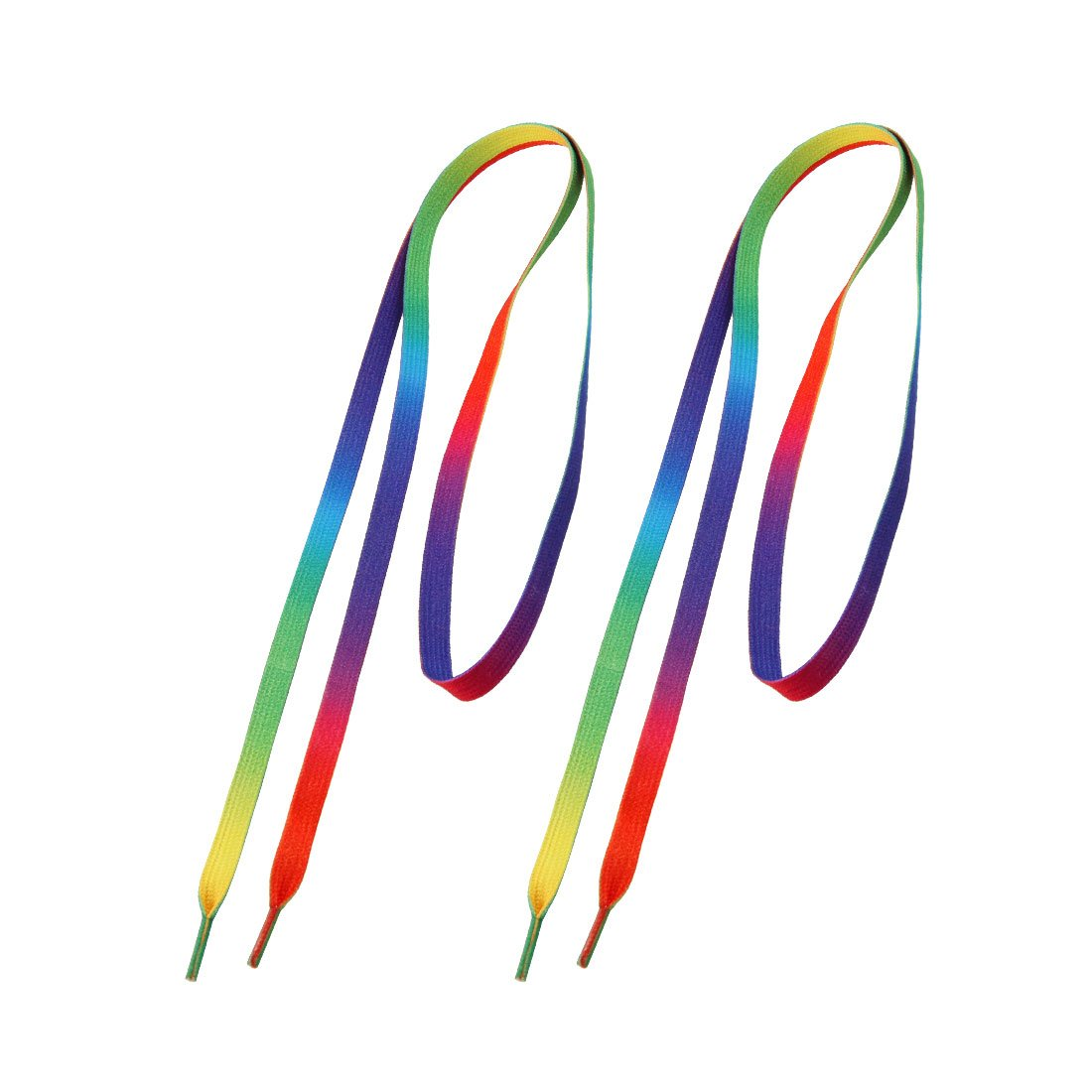 2 Pcs Colorful Nylon   Flat Thick Shoe Laces 45.3 Length<br><br>Aliexpress