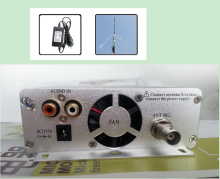 1 set 15W FM broadcast transmitter stereo PLL fm radio station transmitter 87MHz-108MHz + power supply + GP antenna