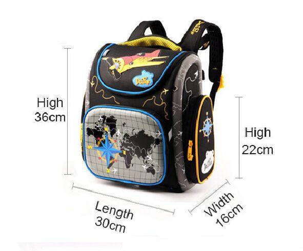 2017 Boys School Bags Aircraft Backpacks Children Orthopedic Backpack School Mochila Infantil Primary Schoolbag Grade 1-5<br><br>Aliexpress