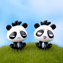 1PC New home decoration accessories fairy garden miniatures mini panda gnomes moss terrariums resin crafts figurines(China)