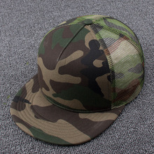 Camouflage Baseball Hat Men And Women Summer Outdoors Flat Peaked Cap Adult Hiphop Punk Rock Cool Mesh Snapback Caps