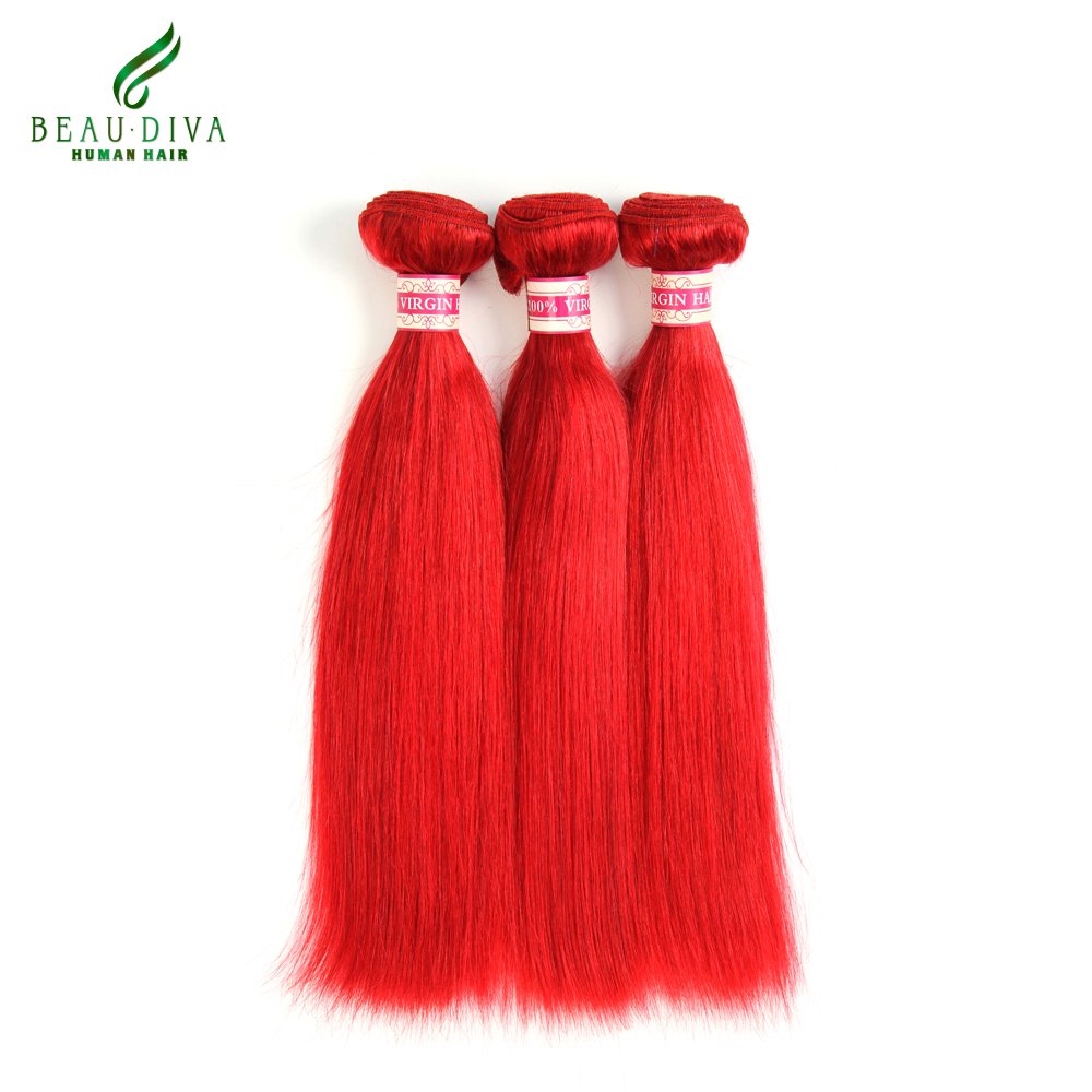 Shipping Free Beau Diva 8A Brazilian Straight Hair Red Virgin Brazilian Virgin Hair Straight 100% Human Hair Weave 3pcs/lot<br><br>Aliexpress