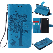 Wallet Magnet Flip Cover Leather Case sFor Sony Xperia E5 case F3311 F3313 Coque phone shell 3D Pattern - Shenzhen Alianyi Store store