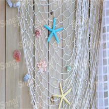 HOT Home The Mediterranean Sea style Wall Stickers big fishing net decoration home decoration wall hangings YL673216(China)