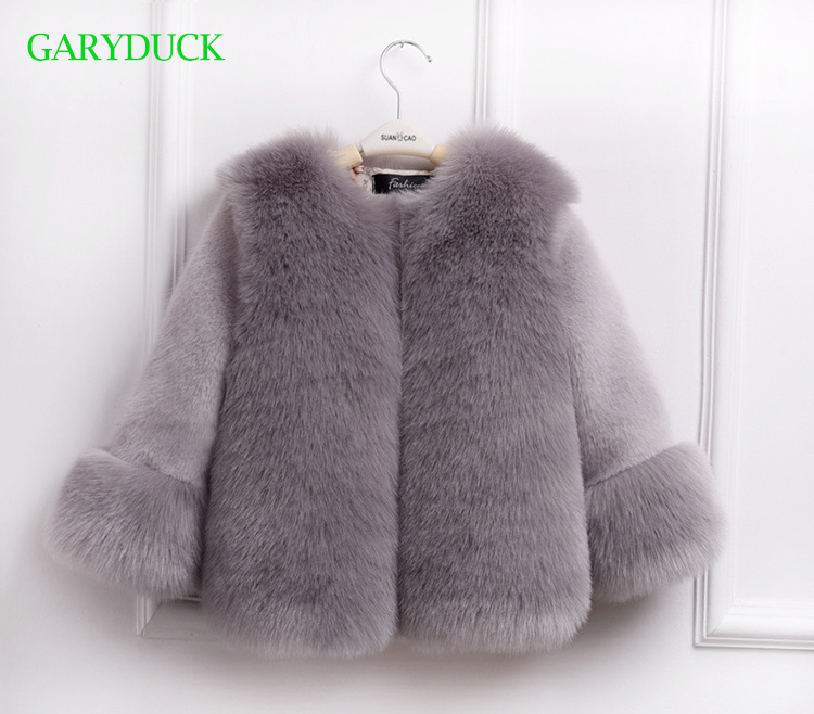 New 2017 Fashion Kids winter fur coat for girls children clothes parka elegant clothing for girls Kids outerwear luxury faux fur<br>