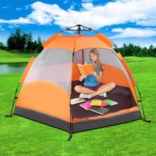 Six Corners 5-8 Person Automatic Tents Sunshade Summer Camping Garden Fishing Beach Picnic Rainproof Shelter Tents Ship from US(China)