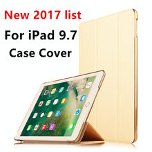 Case For iPad 9.7 inch New 2017 pattern list Protective Smart cover Protector Leather PU Tablet For iPad9.7 Sleeve Cases Covers