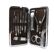 Mythus 100% Stainless Steel Nail Clipper Set Personal Beauty Tools 12 Pcs Manicure Knife Kit For Finger And Toe Ear Picker Tools(China)
