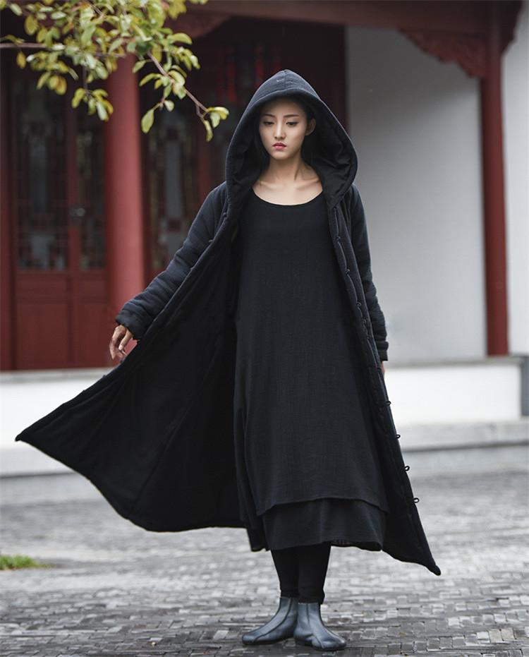 female winter hooded cape (7)