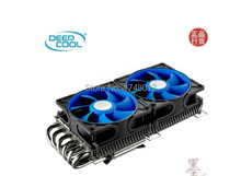 dual 9cm fan, 6 heatpipes ,for NVIDIA /ATI Graphics Cooler,GPU Fan, GPU Radiator, V6000 graphics fan