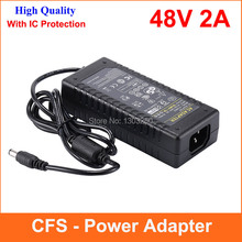 High Quality IC solutions AC 100V-240V Converter DC 48V 2A Power Supply Adapter 96W Adaptor 1pcs(China)