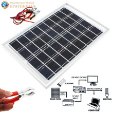 High Efficiency 10W 12V Cell Solar Panel Module Battery Charger for RV Boat Camping with Alligator Clips 1.4M Cable(China)