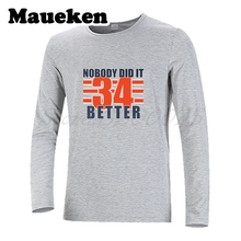 Men Autumn Winter Nobody Did It Better Walter Payton #34 T-Shirt Long Sleeve Tees T SHIRT Men's W1017015(China)